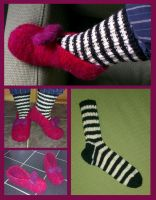Wicked Witch of the East's slippers and socks by KnitLizzy