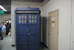 A large TARDIS at The Great Allentown Comic Con by agentpalmer