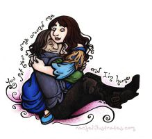 One Year of Rumbelle - Home by rachelillustrates