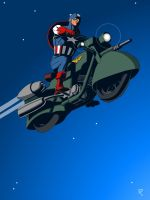 Captain America- jet cycle by jaypiscopo