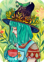 Witch with Mantis - ACEO by a-lonely-me