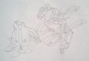 robotech line drawing 001 by sakivibe