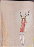 Wooden Deer by SuspiciousHat