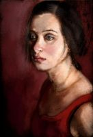 Portrait, Red Dress by GaryStearly