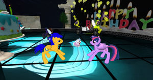Twilight Sparkle and Flash Sentry Dancing Together by X-Flame-Dancer-X