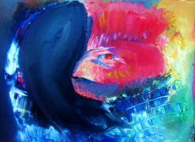 portrait of red fish face by nunheh
