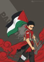 raise the flag of palestine by ghozai