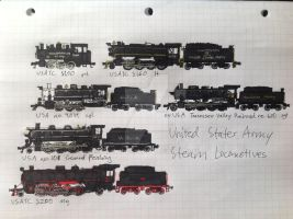 United States Army Steam locomotives by drawing425