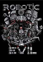 Robotic Evil - T-shirt Illustration by MarceloMatere
