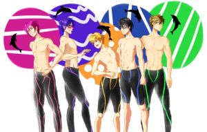 Free! Boys by Libra-Creates