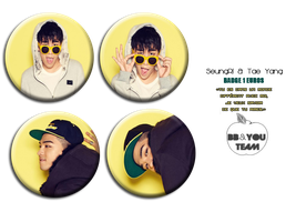 BADGE TAE YANG and SEUNGRI by Suki-Poulpe