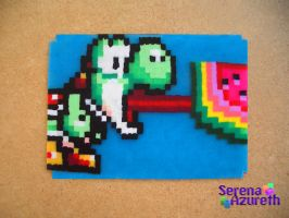 Yoshi Loves Watermelon ATC by SerenaAzureth