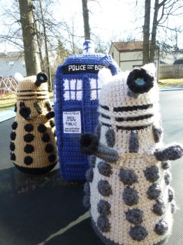 The Daleks Have the Phone Box by MilesofCrochet
