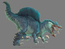 Xio the Spinosaurus by Thermrone