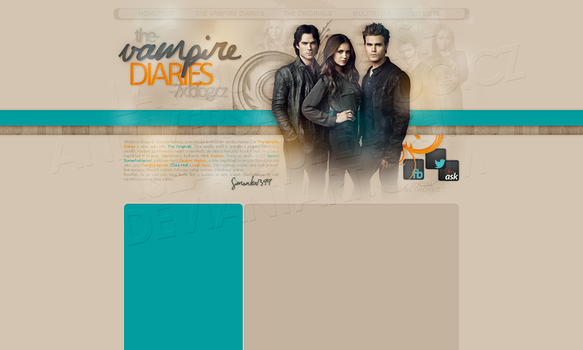 Layout: The Vampire Diaries by iseayoubeach