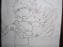 Me and Kakashi crappy i know.. by MCTNOKS