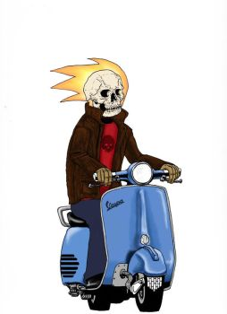 2005 - Ghost Rider in color by Jshepherd