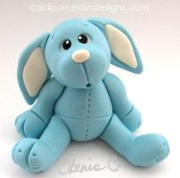 cold porcelain blue rabbit by i-be-c