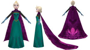 MMD [W.I.P.] Coronation Elsa by 0-0-Alice-0-0