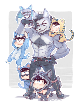 Osomatsu-san - Karamatsu by Meoon