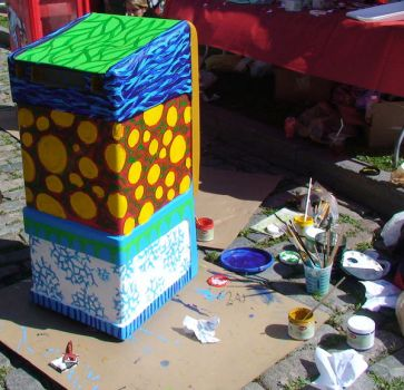 Box Painting - Work Area by golddew