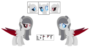 Madame le Ghast the Ghast Pony - Reference Sheet by MoonIight-Eevee