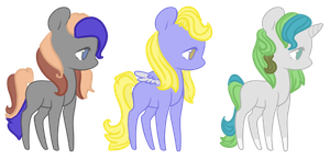 Random Pony adopts :open 1/3 by InuLover097