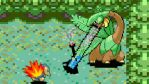 Tropius Takes a HIT!  (Smokeymon) by Buizleflare
