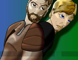 Luke Skywalker and Kyle Katarn by PaulSkywalker