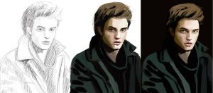 As of yet untitled Edward, WIP by Amenite
