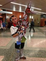 me as ventus with bioshock keyblade by Roxas-Ven-Cosplayer