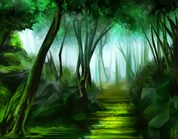 Forest Path by Galember
