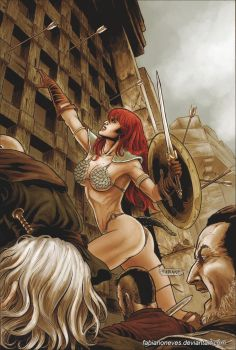 Red Sonja 59 Cover Colors by FabianoNeves