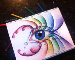 Rainbow eyes by artisticalshell