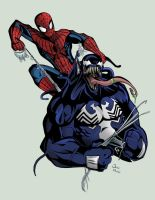 Spidey and Venom by TimelessUnknown