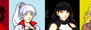 RWBY Pixel banner without Adam by Ronku