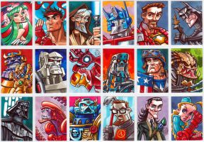 Sample Sketch Cards by Chad73