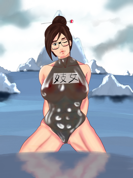 Mei likes ice cold swimming by Lingerie-Thief