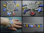 Legend of Zelda Charm Bracelet 3 by Pixelosis