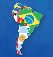 Map of South American Flags by ajmedwards