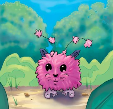 Animation style Fluffy thing by paintgirl