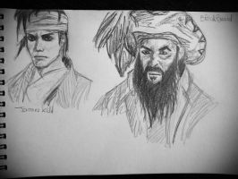 Sketch of James Kidd and Blackbeard by marianne481
