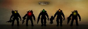 Bioshock - silhouettes and glows by shatinn