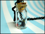 Heartless in a Bottle Necklace by GrandmaThunderpants