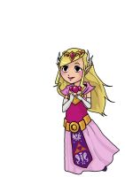princess zelda ww- COLLAB by sophira-moonlily
