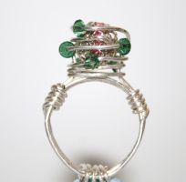 The Crown of Thorns Wire Ring by FranyaBlue