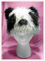 Crochet Panda Hat by Silent--Haze