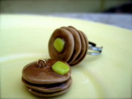 Pancake ring and pendant by eatyourbrians