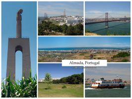 Postcard - Almada, Portugal by jpgmn