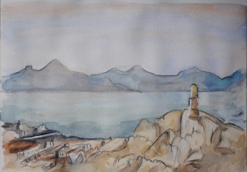 Watercolour Landscape Study by IvanChristian